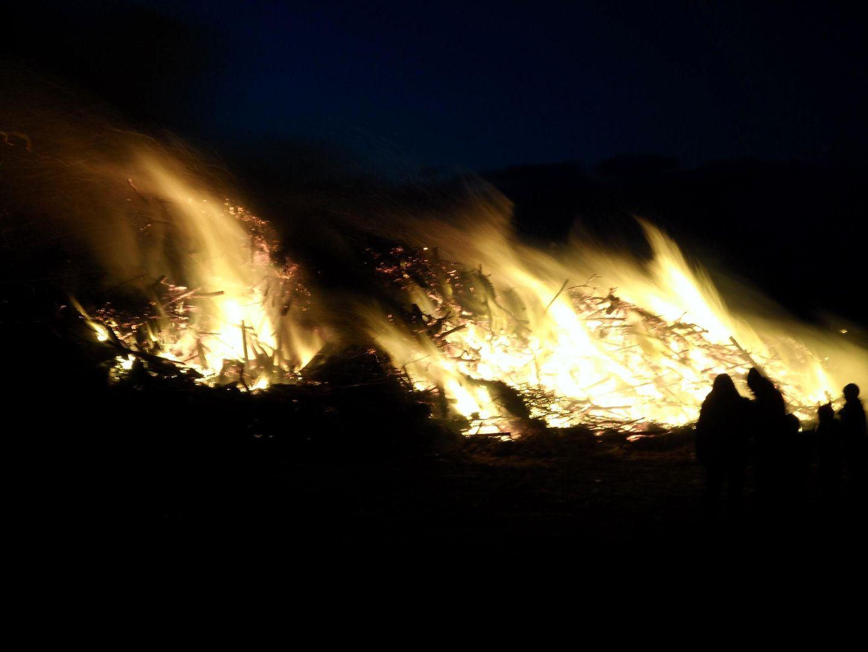 Biakefeuer auf der Insel Amrum