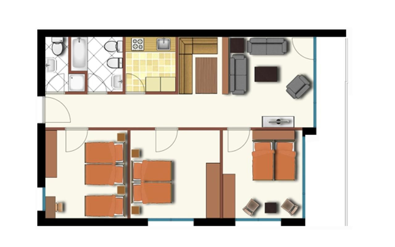 Appartement de vacances Allod Bad 205 (325472), St. Moritz, Haute Engadine - St. Moritz, Grisons, Suisse, image 6