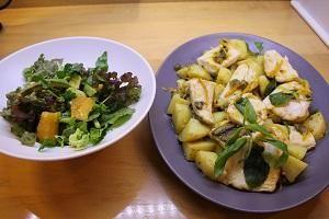 Kavraju kenibati - Zitronen Seebarsch mit Kartoffeln und Minze