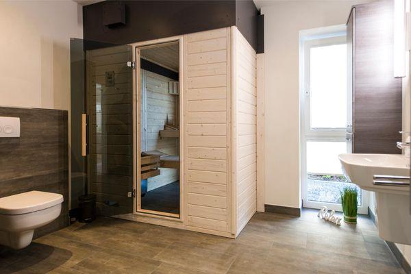 Yachtblick auf der Ostsee  - Badezimmer