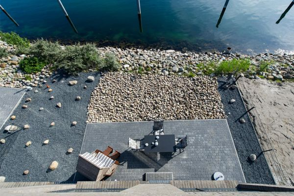 Yachtblick auf der Ostsee  - Terrasse
