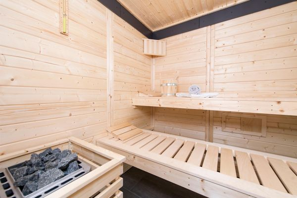 Yachtblick auf der Ostsee  - Sauna