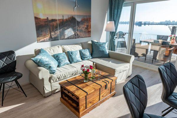 Annas Heimat am Meer  - Wohnzimmer