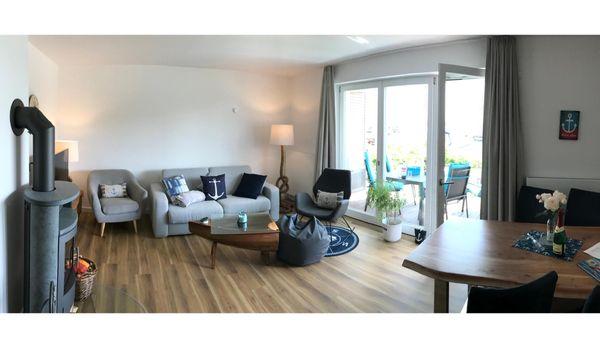 Wohnzimmer von * Hafennest  * Zweizimmer-Apartment mit Kamin im Haus 6 Apartment 4