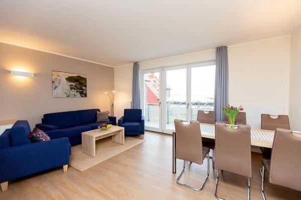 Wohnzimmer von Apartment mit 3 Schlafzimmern,Parkplatz am Haus P5A7