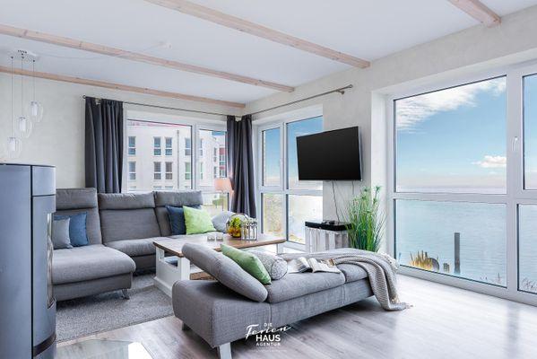 Traumblick auf der Ostsee  - Wohnzimmer
