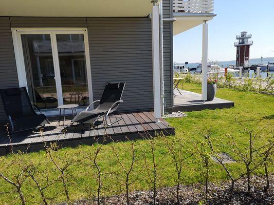 Blick auf Sehenswürdigkeit von Panorama-Apartment mit zwei Terrassen, Hund erlaubt   (P7 A1)