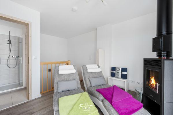 Strandvilla  - Wohnzimmer