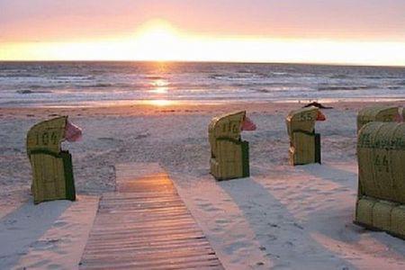 Altes Strandhus Casa Strandmuschel Scharbeutz - OT Haffkrug - Strand Abendstimmung
