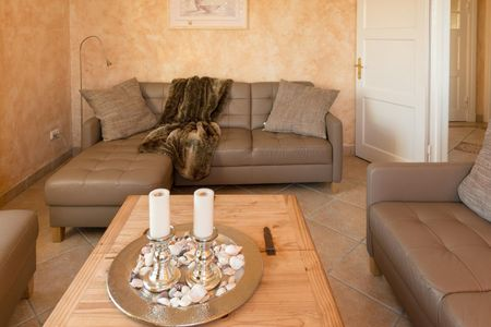 Altes Zollhaus Casa Ostseetraum Scharbeutz - OT Haffkrug - Wohnzimmer mit Meerblick