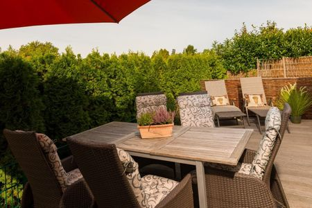 Altes Strandhus Casa Stranddüne Scharbeutz - OT Haffkrug - Terrasse