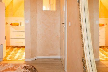 Altes Strandhus Casa Meeresrauschen Scharbeutz - OT Haffkrug - 2. Schlafzimmer mit Bad