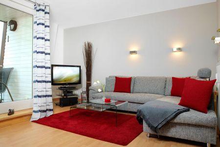 Ostsee Residenz Meeresblick Bellevue Schwarzer Busch - Geschmackvoll eingerichtetes Wohnzimmer mit traumhaftem Meerblick.