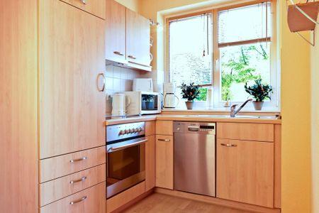 Ostsee Residenz Meeresblick Bellevue Schwarzer Busch - Die voll ausgestattete Küche begeistert auch den anspruchsvollen Gast.
