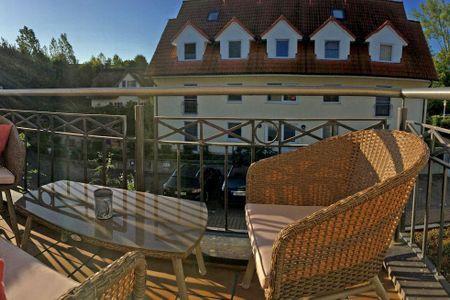 Ostsee Residenz Meeresblick Strandperle Schwarzer Busch - Balkon