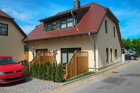 Doppelhäuser zum Reetmoor Haus Kirsten Schwarzer Busch - Hauptansicht