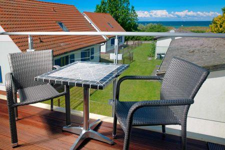 Doppelhäuser zum Reetmoor Haus Kirsten Schwarzer Busch - Balkon