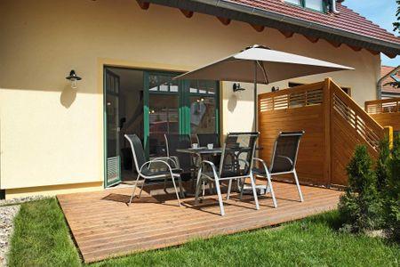 Doppelhäuser zum Reetmoor Haus Friederike Schwarzer Busch - Terrasse
