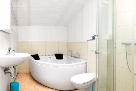 Dänische Ferienhäuser am Salzhaff Haus Im Wiesengrund Vorwerk - Badezimmer