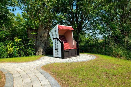 Dänische Ferienhäuser am Salzhaff Haus Pacific Vorwerk - Terrasse