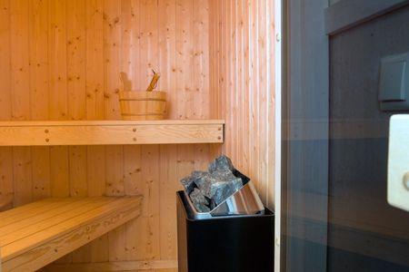 Dänische Ferienhäuser am Salzhaff Haus Strandbrise Vorwerk - Sauna
