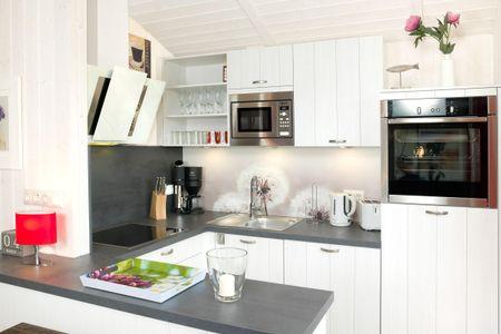 Dänische Ferienhäuser am Salzhaff Haus Strandhafer Vorwerk - Küche / Küchenzeile