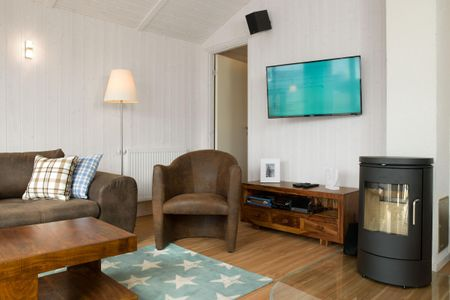 Dänische Ferienhäuser am Salzhaff Haus Strandhafer Vorwerk - Wohnzimmer