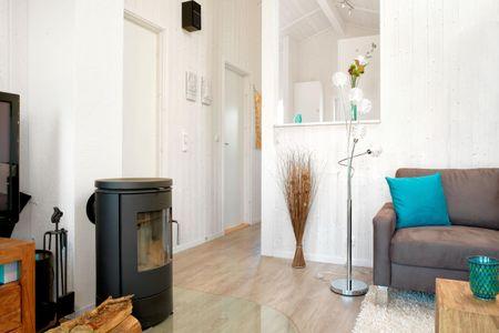 Dänische Ferienhäuser am Salzhaff Haus Meerjungfrau Vorwerk - Wohnzimmer