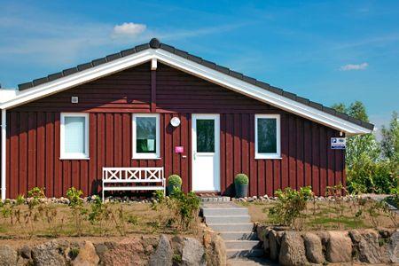 Dänische Ferienhäuser am Salzhaff Haus Meerjungfrau Vorwerk - Hauptansicht