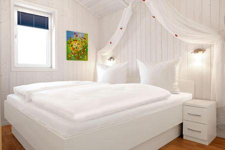 Dänische Ferienhäuser am Salzhaff Haus Meerjungfrau Vorwerk - Schlafzimmer