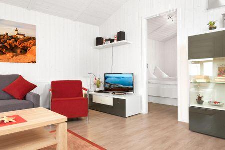 Dänische Ferienhäuser am Salzhaff Haus Vogelparadies Vorwerk - Wohnzimmer