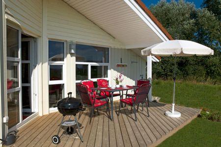 Dänische Ferienhäuser am Salzhaff Haus Vogelparadies Vorwerk - Terrasse