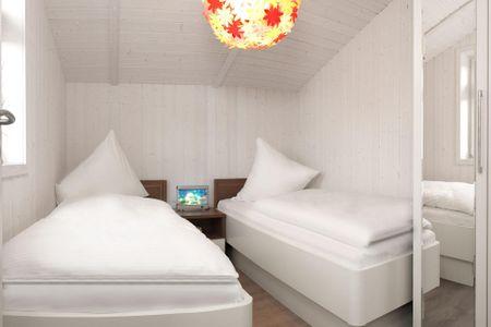 Dänische Ferienhäuser am Salzhaff Haus Vogelparadies Vorwerk - Schlafzimmer