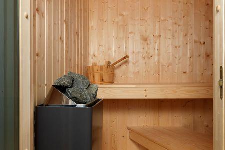 Dänische Ferienhäuser am Salzhaff Haus Vogelparadies Vorwerk - Sauna