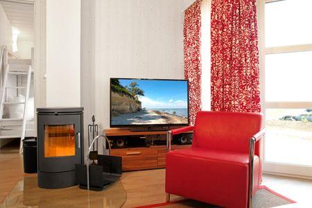 Dänische Ferienhäuser am Salzhaff Haus Pacific Vorwerk - Wohnzimmer