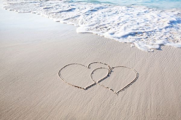 Strand Herzen Hoch