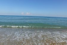 Beach of Sfakaki, ca. 4km away
