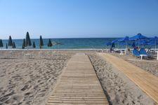 Strand von Platanias bei Rethymnon in der Nähe vom Ferienhaus, nach 6km.