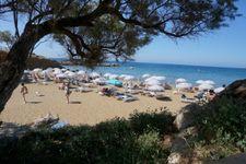 Beach of Panormos, ca. 16km away