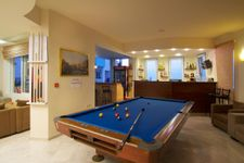 Reception with pool table