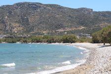 Strand nach 650m Fußweg (2km über die Küstenstraße)