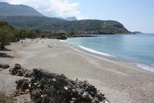 Pantazi Strand nach 700m