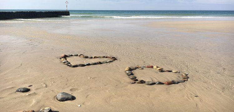 Bild Sylt Meer Wasser Herzen