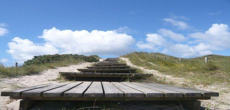 Bild Sylt Treppe Strandaufgang