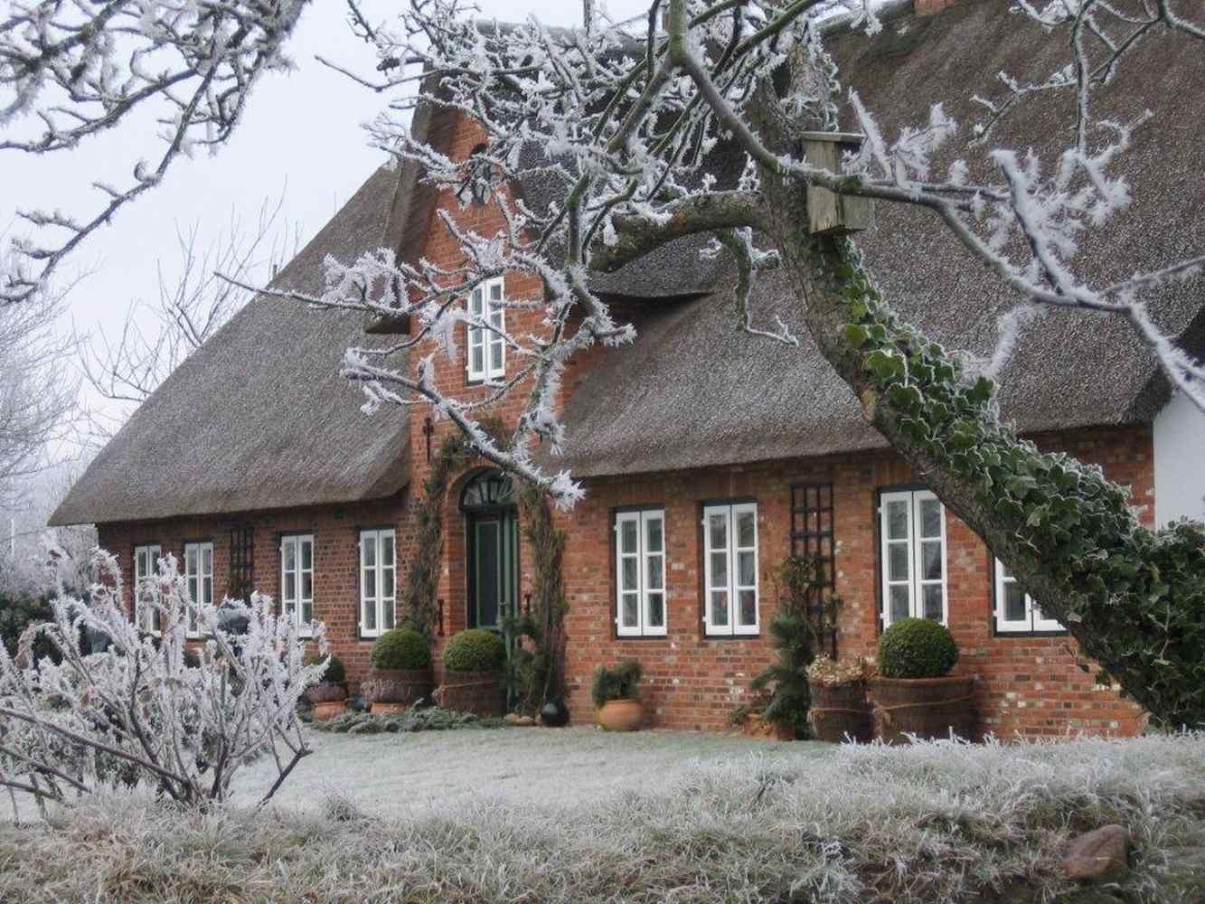 Bild Weihnachten Sylt Schnee Ferienwohnungen