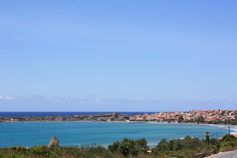 Methoni, Peloponnes Blick über die Bucht