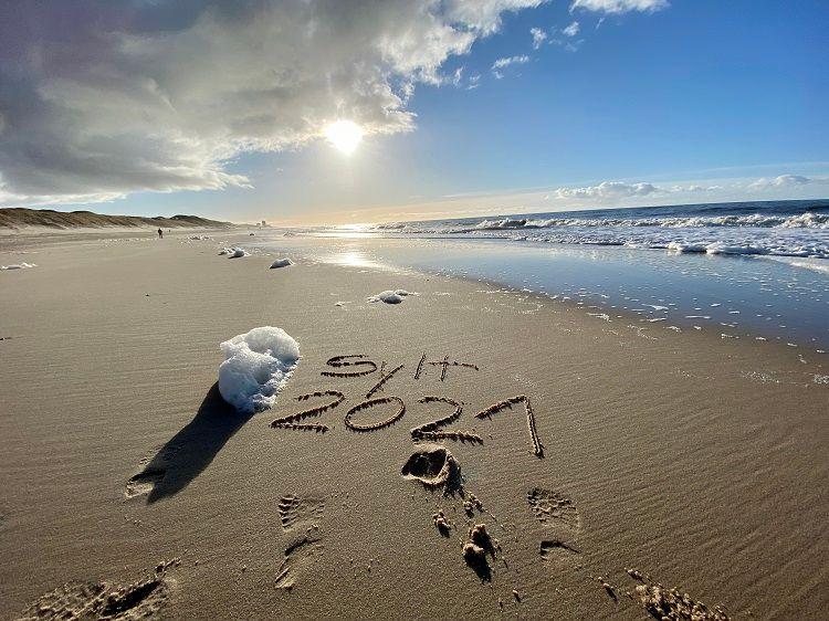 Bild Winter Sylt Ferienwohnung Meer Strand