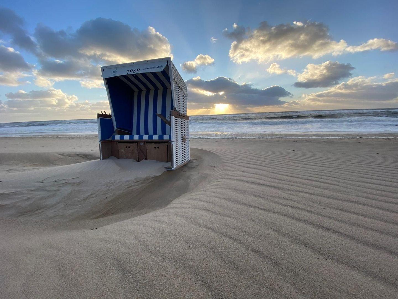 Strandkork mit Meerblick