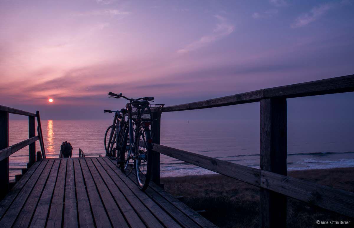Fahrradtour zum Sylter Stranduntergang